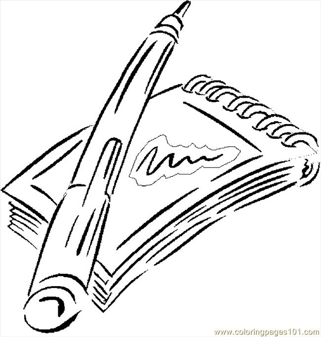 notepad coloring pages - photo#3