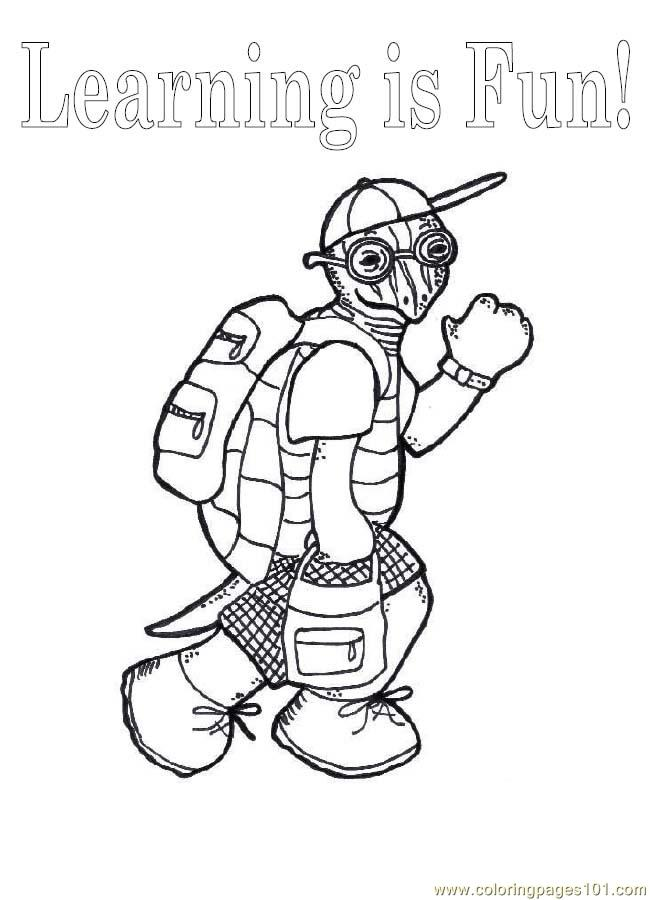 O School Turtle Coloring Page Coloring Page Free School