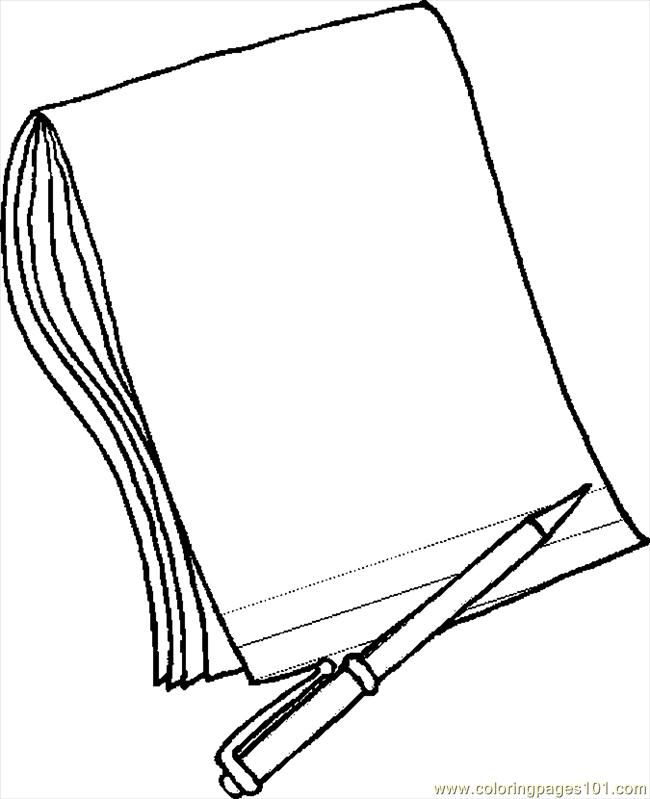 pencil paper 2 coloring page free school coloring pages. Black Bedroom Furniture Sets. Home Design Ideas