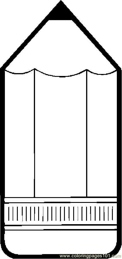 Pencil Frame 3 Coloring Page