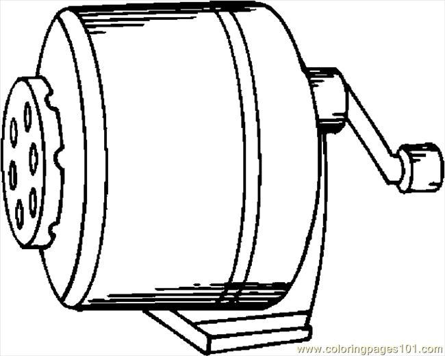 Pencil Sharpener 5 Coloring Page Free School Coloring