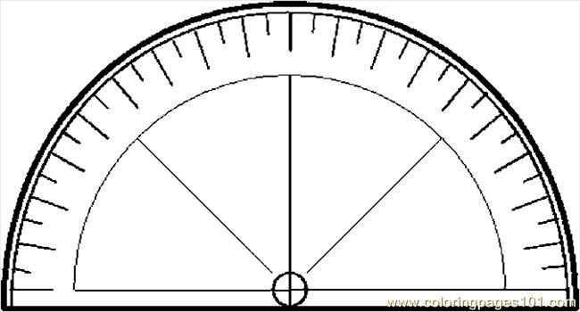 Protractor 1 Coloring Page Free