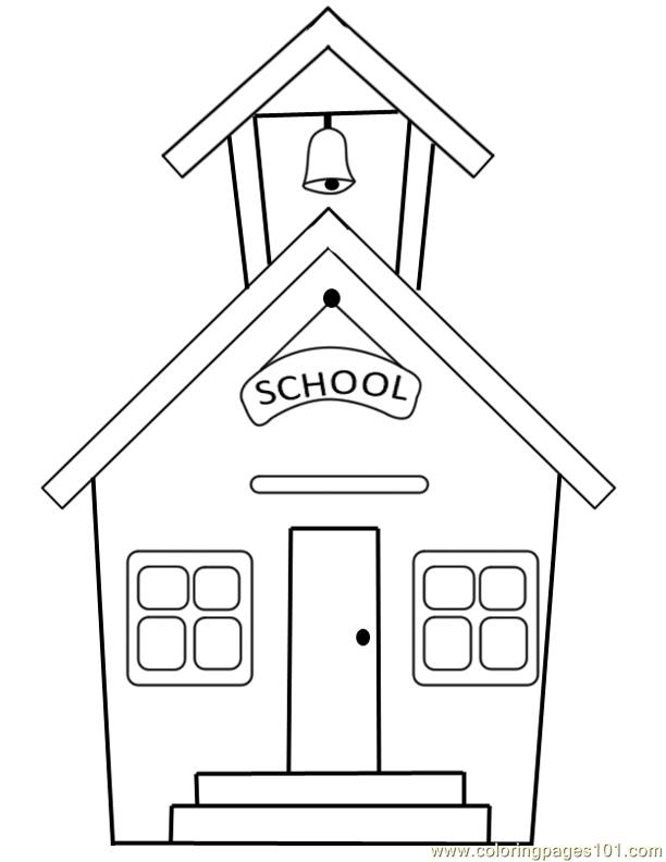 School building Coloring Page Free School Coloring Pages