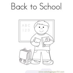 Back to school Free Coloring Page for Kids