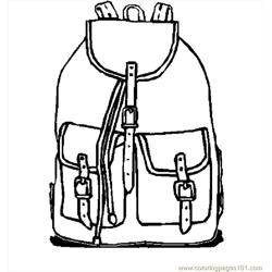 Backpack 10 Free Coloring Page for Kids