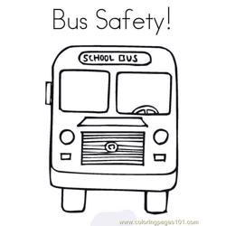 Bus safety Free Coloring Page for Kids