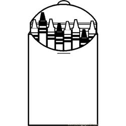 Crayon Box Frame Free Coloring Page for Kids