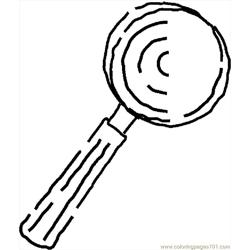 Magnifying Glass 08 Free Coloring Page for Kids