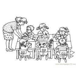 Doing work Free Coloring Page for Kids