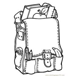 School bag Free Coloring Page for Kids