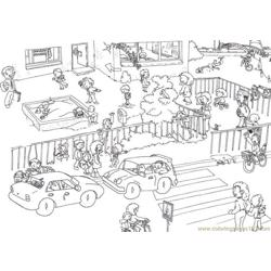 Ending school time Free Coloring Page for Kids
