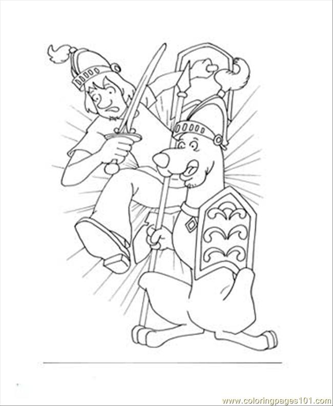 Scooby 3 Coloring Page