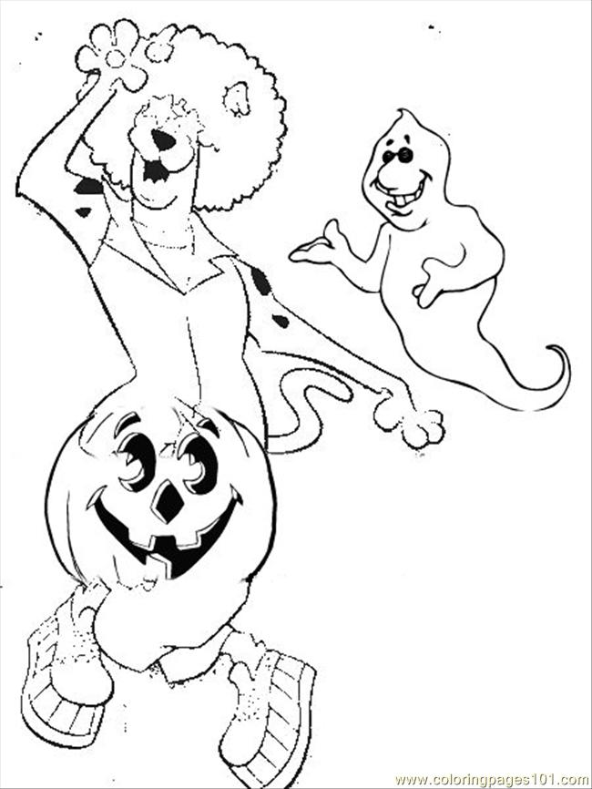 scooby doo halloween coloring page - Free Halloween Printable Coloring Pages