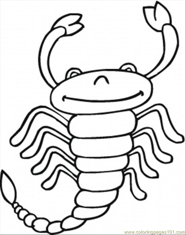 Scorpio Coloring Page Free Scorpion Coloring Pages