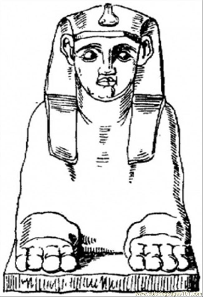 Egyptian Sculpture Coloring Page