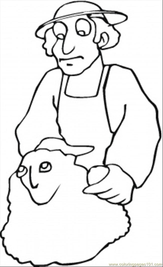 Man Is Making Sculpture Coloring Page