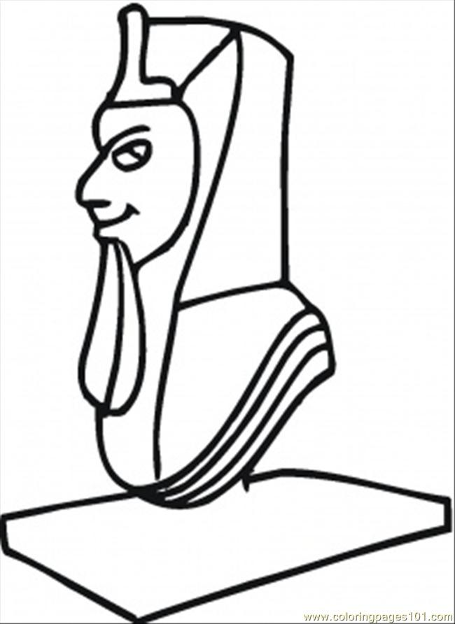 Sculpture Of Egyptian Coloring Page