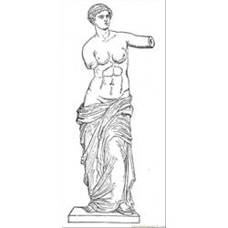Ancient Venus coloring page