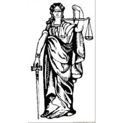 Justice coloring page
