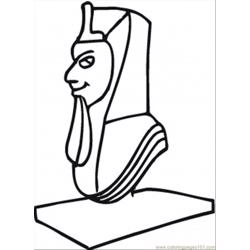 Sculpture Of Egyptian Free Coloring Page for Kids