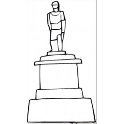 Soldiers Sculpture Free Coloring Page for Kids