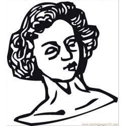 Womans Sculpture Free Coloring Page for Kids