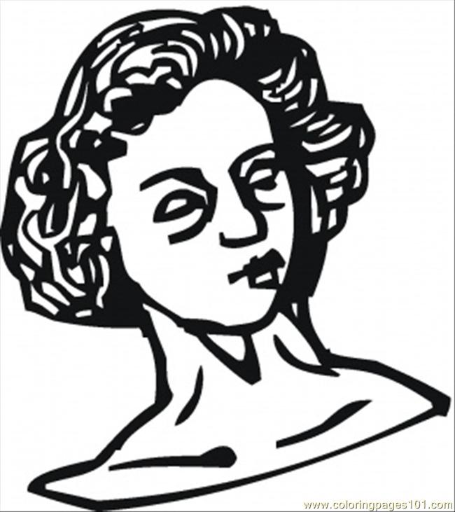 Womans Sculpture Coloring Page