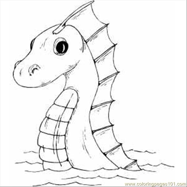 Sea Serpent Coloring Page Free