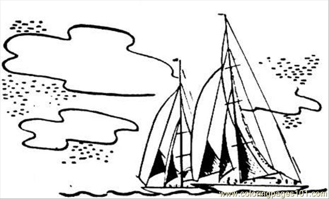 Sailing Boat, Sailing Boat in the Ocean Coloring Pages: Sailing ... | 394x650