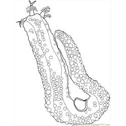 Sea Cucumber Free Coloring Page for Kids