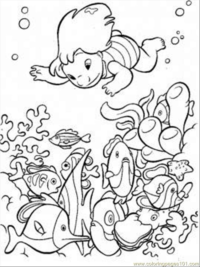 Under The Sea Coloring Page Coloring Page Free Seas and Oceans