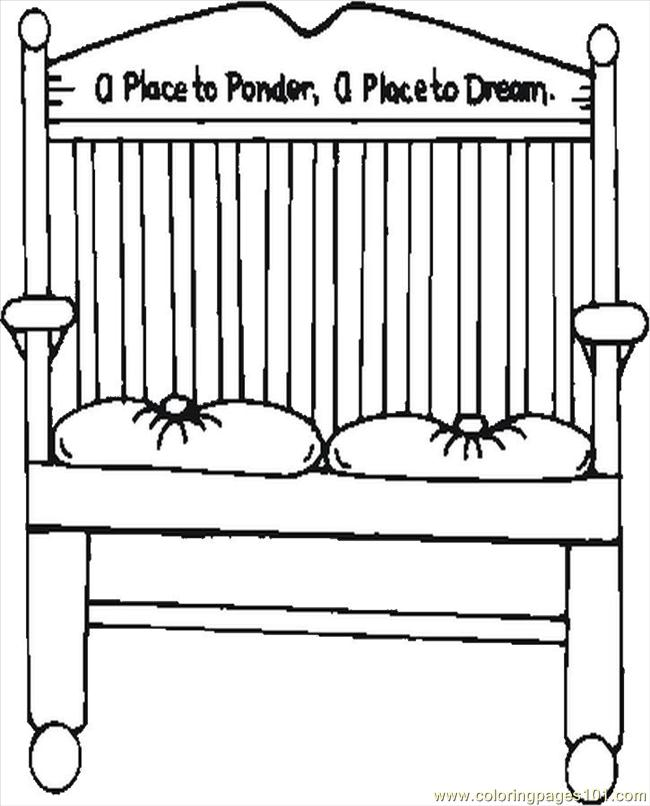 Bench Coloring Page