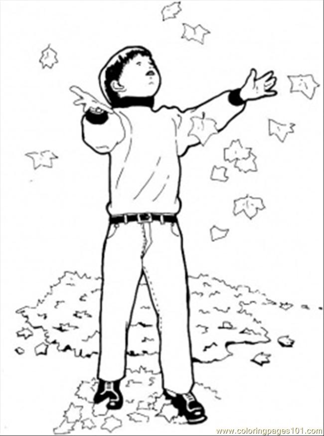 Fall Came Coloring Page