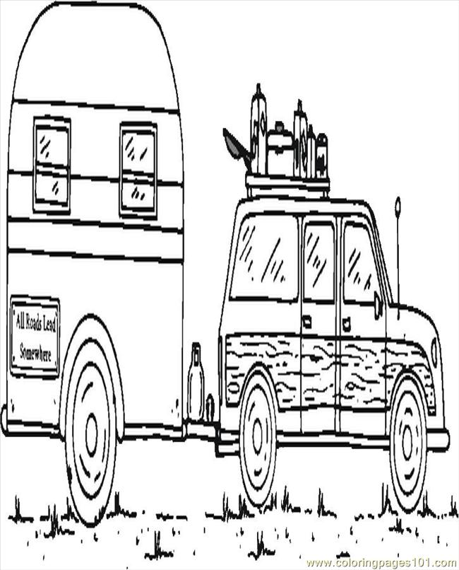 Going Camping Coloring Page - Free Seasons Coloring Pages ...
