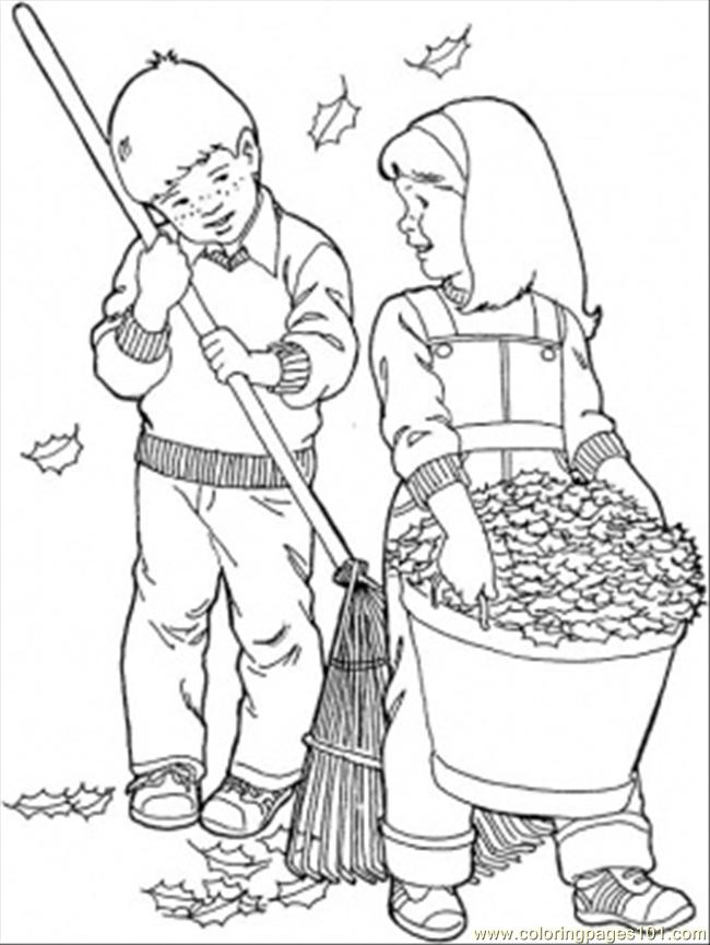 In The Garden In September Coloring Page