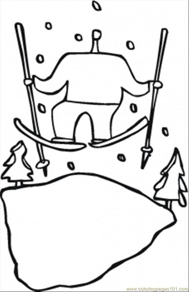 January Vacation Coloring Page