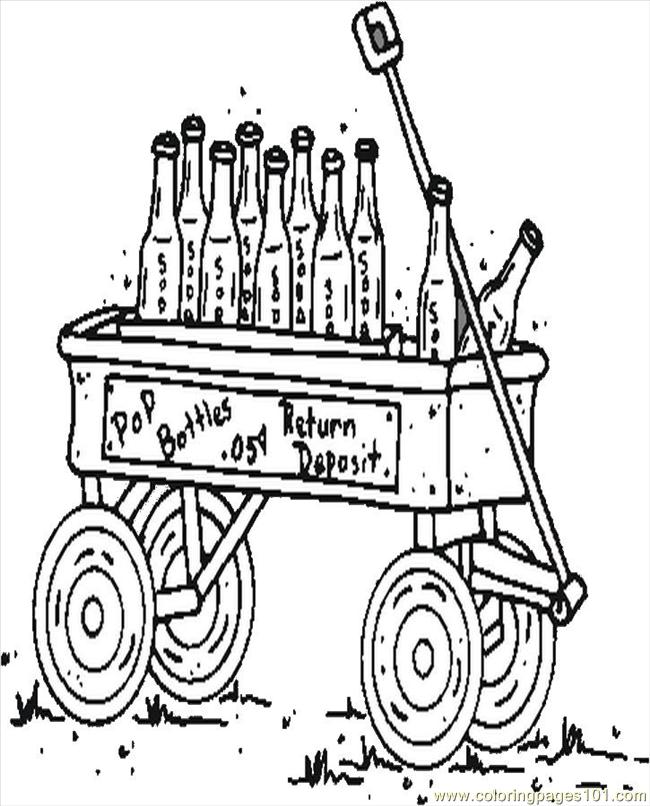 Pop Bottles Coloring Page