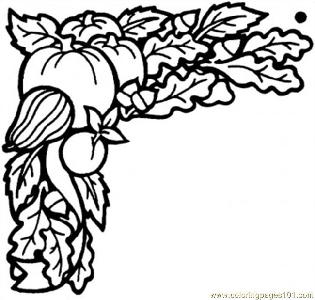 Harvest In September Coloring Page