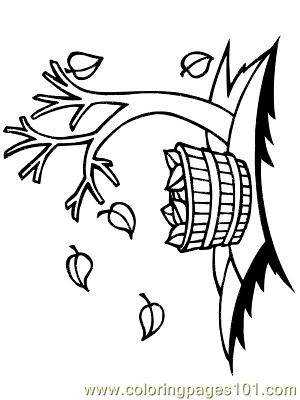 Herfst 01 Coloring Page