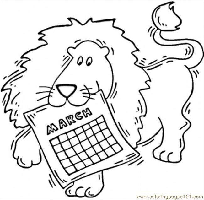 March Coloring Page Free Seasons