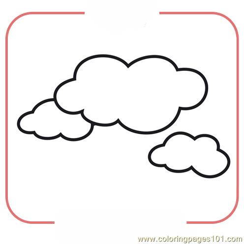 Clouds Coloring Page - Free Seasons Coloring Pages ...