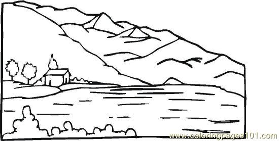 Pondriverlake 5 coloring page free seasons coloring for Lake coloring pages