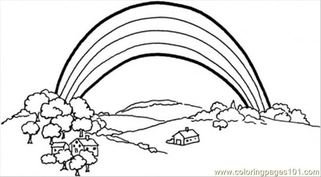 Somewhere Over The Rainbow Coloring Page