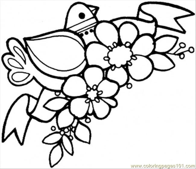 Spring Came Coloring Page