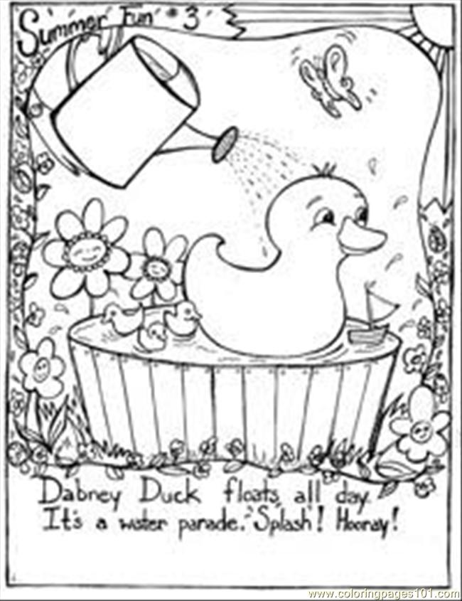 Summer Fun Coloring Page 3 Coloring Page