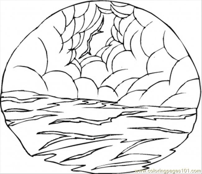 Thunder At The Sea Coloring Page