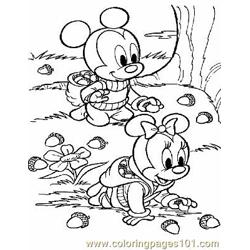 Autumn Fall Coloring Page 0