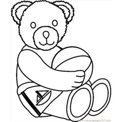 Beachbear1bw Free Coloring Page for Kids