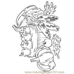 Herfst 28 coloring page