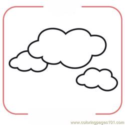 Clouds Free Coloring Page for Kids